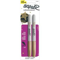 Sharpie Permanent Marker Metallic Gold Pack 2