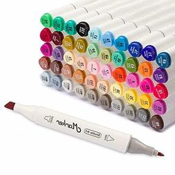 Shuttle Art 50 Colors Dual Tip Art Markers,Permanent Marker