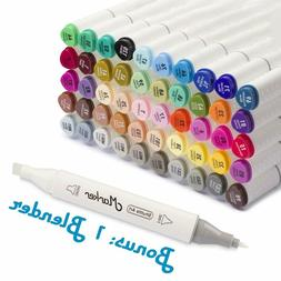 Shuttle Art 51 Colors Dual Tip Art Markers, 50 Colors Plus 1
