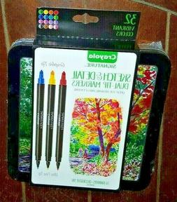 Crayola Signature Sketch & Detail Dual-Tip Markers, Professi