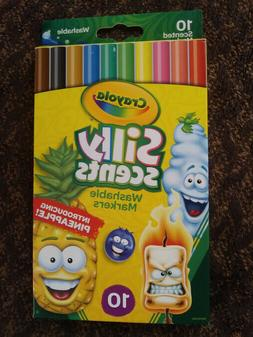 "Crayola Silly Scents 10 Count Markers ""WASHABLE"" Updated edi"