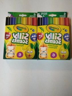 Crayola Silly Scents 12ct Scented Washable Scented Markers