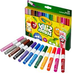 Crayola Silly Scents, Washable Scented Markers, 12 Ct