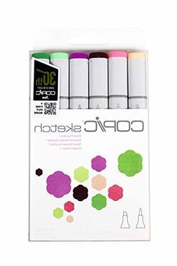 Copic Sketch Marker Floral 1 Set, Oval Barrel, Super Brush a
