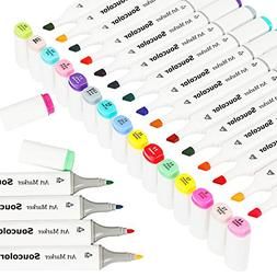 Soucolor Sketch Art Markers 48 Colors Artist Manga Dual Tip