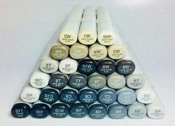 COPIC SKETCH MARKERS GRAYS, TONERS T Series, W Series, C Ser