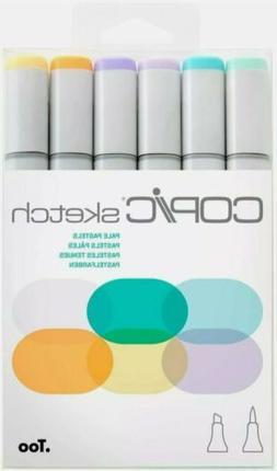 Copic Sketch Markers 6/Pkg-Pale Pastels