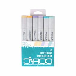Copic Markers 6-Piece Sketch Set, Pale Pastels