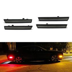iJDMTOY Smoked Lens Amber/Red Full LED Side Marker Light Kit