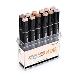 Dainayw 12 Colors Skin Tone Markers, Professional Permanent