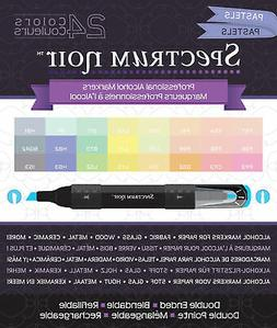 Spectrum Noir Alcohol Markers 24/Pkg-Pastels