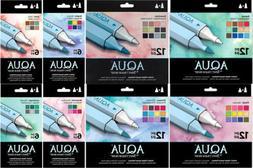Spectrum Noir Aqua Marker Sets, Watercolor Based, Dual-Tippe