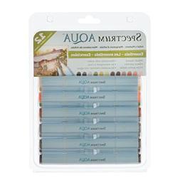 Spectrum Noir Aqua Markers 12/Pkg-Essentials