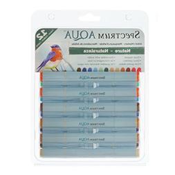 Spectrum Noir Aqua Markers 12/Pkg-Nature