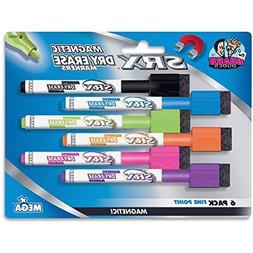 SRX Magnetic Dry Erase Markers, 6/Set