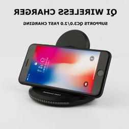 Stand Mount Dock&Pad Qi Wireless Charger for Fast Charging 1
