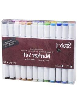 Darice Studio 71, Dual Tip, 24 Pieces Alcohol-Based Marker S