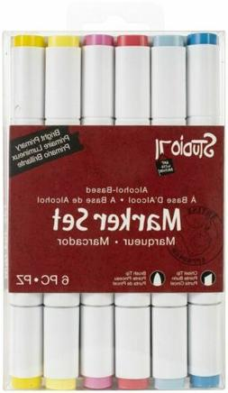 Studio 71 Alcohol Ink Dual Tip Marker Set 6/Pkg-Bright Prima