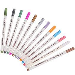 Sunshilor Metallic Markers Paints Pens, Fine Point Marker fo