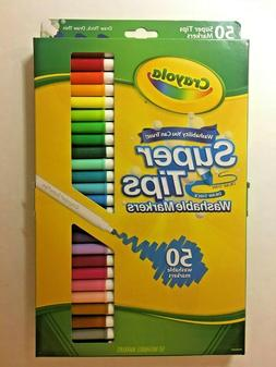 Crayola Super Tip Markers Washable Markers - 50 Count - Draw