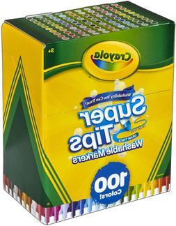 Crayola Super Tips Marker Set, 100 Washable Markers, Assorte