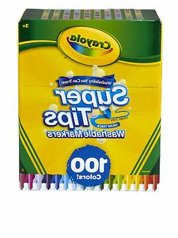 Crayola Super Tips Washable Markers, 100 Assorted Colors, Se