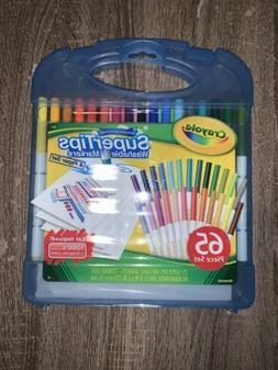 Crayola Super Tips Washable Markers and Paper Set, 65 Piece