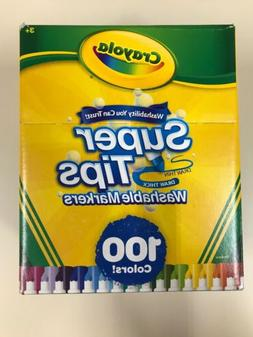 Crayola Super Tips Washable Markers, Set of 100