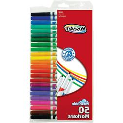 RoseArt Supertip Washable Markers, 50 Assorted Colors, 50pk