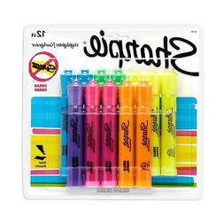 Sharpie 25145 Tank Highlighters, Chisel Tip, Assorted Fluore