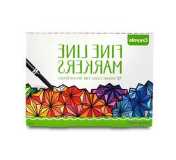 Thin Markers Fine Tip Line Crayola Black For Kids Paint Poin