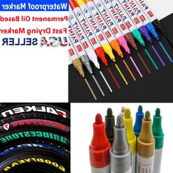 Tire Paint Marker Pen Car Tyre Rubber Permanent Universal Wa