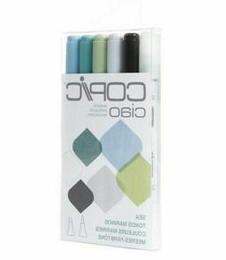 Copic Too Double Ended Alcohol Ink Markers  6 Piece Ciao Set