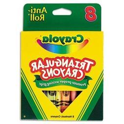 Crayola Triangular Crayons, 8 Colors/Box, Case of 2 Boxes