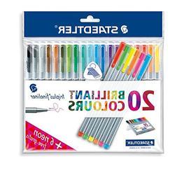 """Triplus Fineliner """"26-Piece Bonus Pack"""" Pens by Staedtler, 0"""