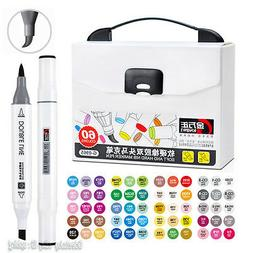 Twin Tip Brush Broad Art Design Artist Sketch Marker Pen Alc