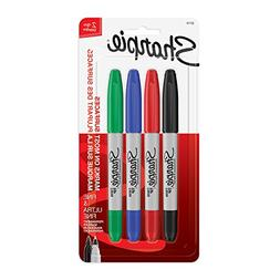 Sharpie 32174PP Twin Tip Permanent Markers, Fine and Ultra F