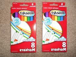 Rose Art Two Packs Of 8 Each Washable Markers