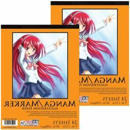 """U.S. Art Supply 9"""" X 12"""" Premium Manga Marker Paper Pad 60 L"""