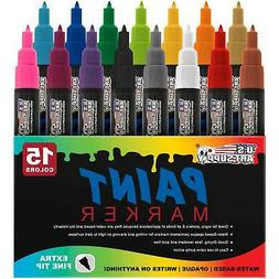U.S. Art Supply Paint Markers Water Based Ex-Fine Point Tip