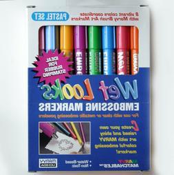 MARVY UCHIDA Wet Looks Embossing Markers Pastel Set - Brand