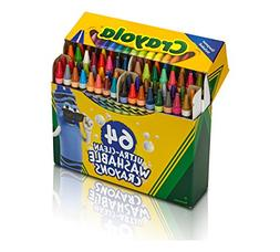 Crayola 52-3287 Ultra Clean Washable Crayons, 64 Classic Col