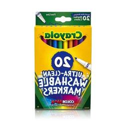 Crayola 20 ct Ultra-Clean Washable Fine Line Markers Classic