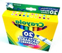 Crayola Ultra Clean Washable Markers 20 Count Box Broad Line