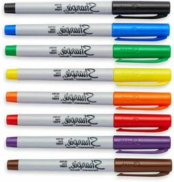 Sharpie Ultra Fine Point permanent markers multi color 8 pac