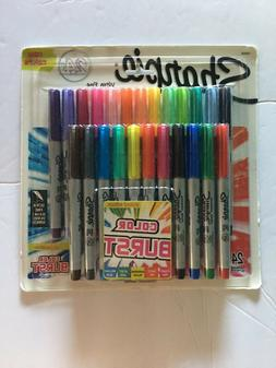 Sharpie Ultra Fine Point Permanent Markers, 24-Pack, 80's Gl