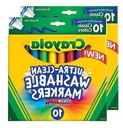 Crayola Ultraclean Broadline Classic Washable Markers ,
