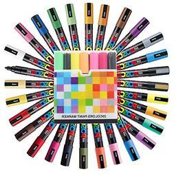 Uni Posca Paint Marker FULL RANGE Set , Mitsubishi ALL Natur