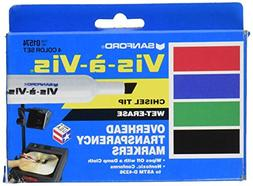 EXPO 1574 Vis-A-Vis Wet-Erase Overhead Transparency Markers,