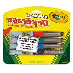 Crayola Visi Max Dry Erase Markers - 4 Count